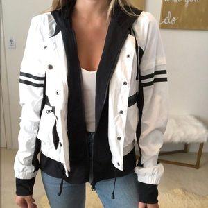 Blanc noir black and white utility jacket